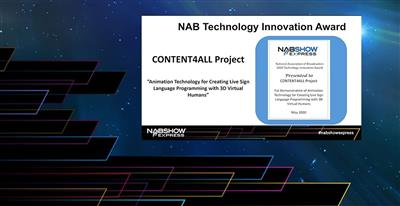 CONTENT4ALL wins the NAB Technology Innovation Award