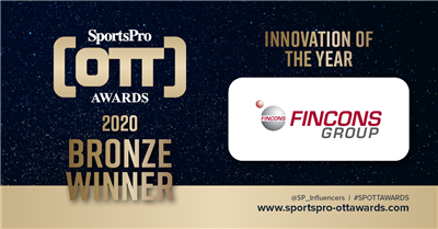Fincons Group has won the Innovation of the Year award at the SportsPro OTT awards 2020